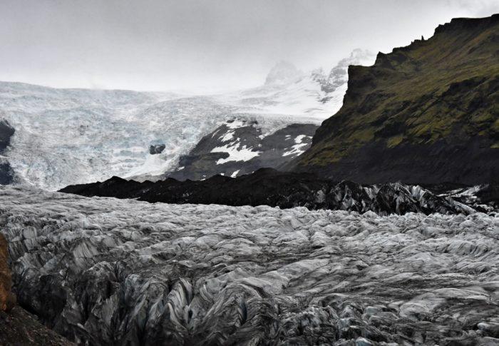 Entre glacier et plage de glace !